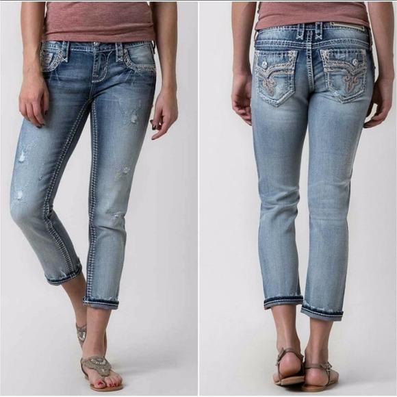 Rock Revival Sz 24 Betty Skinny Crop Jeans